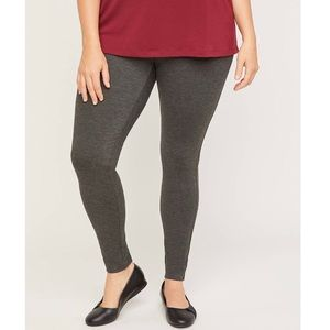 NWT CATHERINES Ponte Leggings Dark Heather Gray